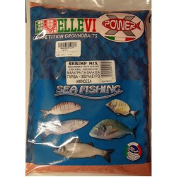 Groundbait  Ellevi Shrimp/Fishflour/Acids 1Kg