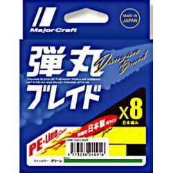Braid Major Craft DANGAN 8x Green 150m